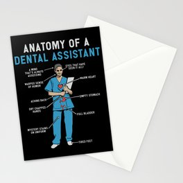 Funny Anatomy of a Dental Assistant Stationery Cards