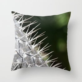 Cactus Thorns in Sunshine Throw Pillow