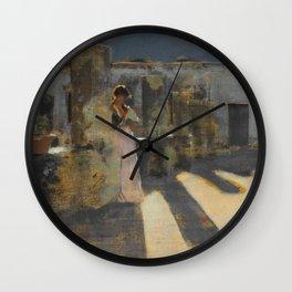 "John Singer Sargent ""Capri Girl on a Rooftop"" Wall Clock"