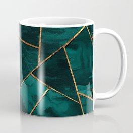 Dark Teal Ink Copper Gold Geometric Glam #1 #geo #decor #art #society6 Coffee Mug