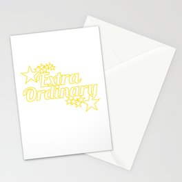 """""""Extraordinary"""" tee perfect for awesome people like you! Makes an awesome gift to your family too! Stationery Cards"""