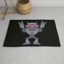 Metalhead - Heavy Metal Robot Devil Rug