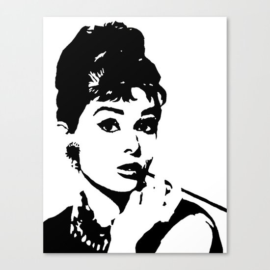 audrey hepburn monochrome pop art black amp white stencil