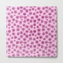 Cherry Blossoms Pattern 01 Metal Print