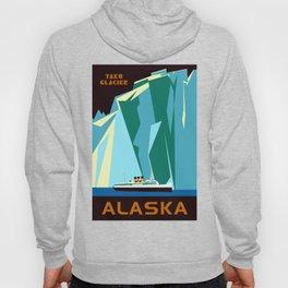 Alaska Taku Glacier retro vintage style travel Hoody