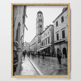 European City Street | Charming Architecture Dome Tower Skyline Building Cityscape Streets Serving Tray