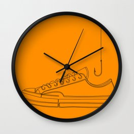 Fishing for Shoes Wall Clock
