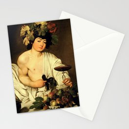 Carvaggio - Bacchus 1595 Stationery Cards