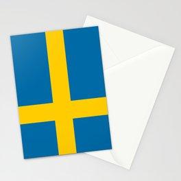 Swedish Flag of Sweden Stationery Cards