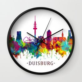Duisburg Germany Skyline Wall Clock