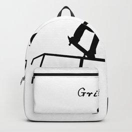 Grinding Skateboard  Quote Art Design Inspiration Backpack