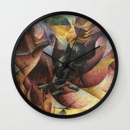 Umberto Boccioni, Elasticity, futurism, abstract painting, modern art, contemporary art, cubism Wall Clock