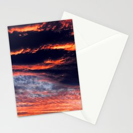 Sunset After Dangerous Tropical Cyclone in Palau Islands Stationery Cards