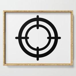 Crosshair Round Target Serving Tray