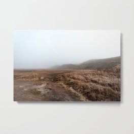 Photo of National Park the Slufter covered in fog IV | A journey around Wadden Island Texel Metal Print