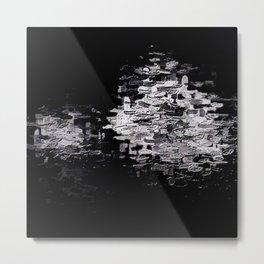 Pixels on Screen, Cobalt in E Minor Metal Print