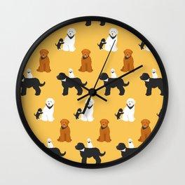 Labradoodle friends Wall Clock