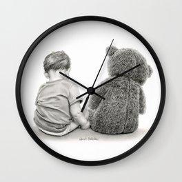 Just A Boy And A Bear Wall Clock