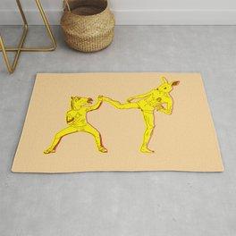 Horse-Dude versus Kick-Bunny Rug