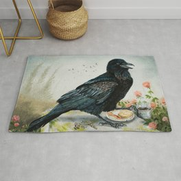 Breakfast With the Raven Rug