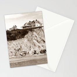 Big House on the Cliff panoramic Stationery Cards