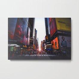 New York At Dusk Metal Print