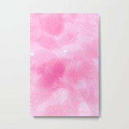 Light Pink Foam Plastic Texture Metal Print