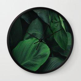 Green Nature Deep Leaves Wall Clock