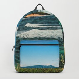 Wave Series Photograph No. 29 - The Emerald Sea - Hawaii Backpack