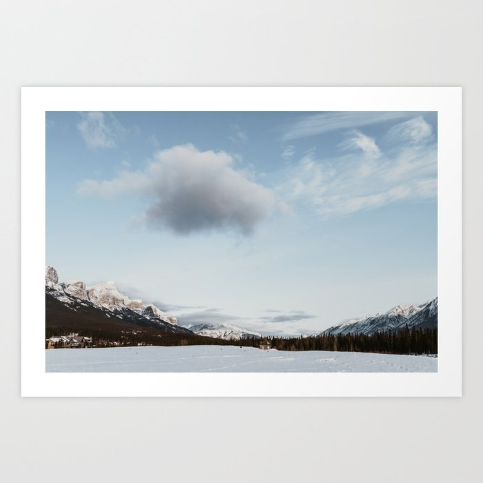 Snowy landscape Mountains of Canada Art Print