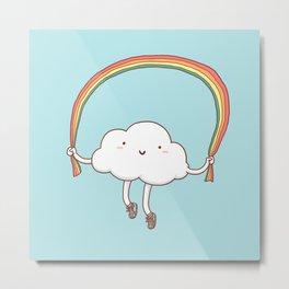 Rainbow Skipping Metal Print
