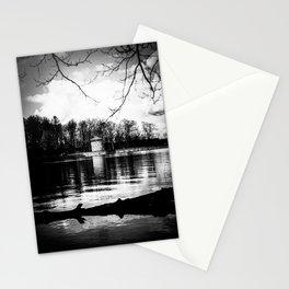Möhne Reservoir Lake Tower bw Stationery Cards