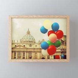 Festa in Vaticano Framed Mini Art Print