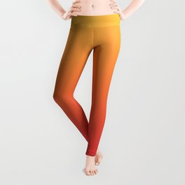 Summer Pattern Ombre Yellow Orange Red Gradient Texture Leggings