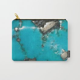 Turquoise with Gold Veining and Deposits Carry-All Pouch