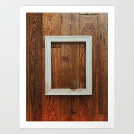 Wooden Floor Hanging. Piece #2 Art Print