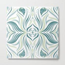 Abstract Retro symmetrical design Metal Print