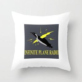 Infinite Plane Radio Throw Pillow