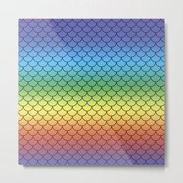 Mermaid Rainbow Gradient  Metal Print