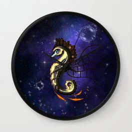 Cute little steampunk seahorse Wall Clock