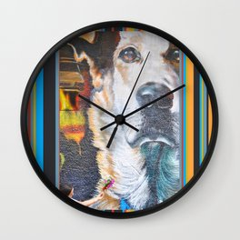 Few flowers as a tribute to the Loukanikos dog from Elisavet Wall Clock
