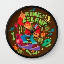 King of the Island Wall Clock