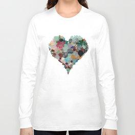 Love - Original Sea Glass Heart Langarmshirt