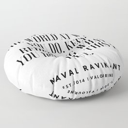 23  |Naval Ravikant Quotes Series  | 190618 Floor Pillow