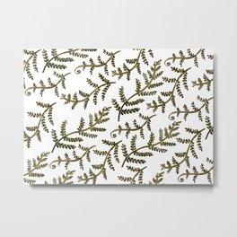 Folksy Ferns Metal Print