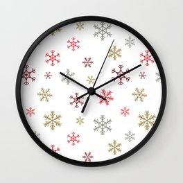 Christmas snowflakes Wall Clock