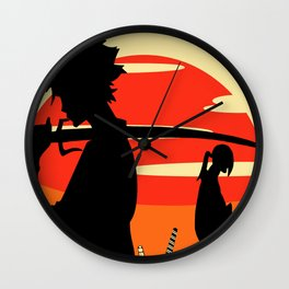 Sharp Like An Edge Of A Samurai Sword Wall Clock
