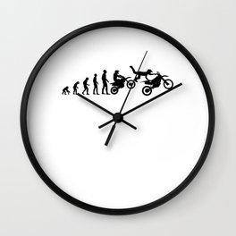 Motocross Dirtbike Evolution Wall Clock