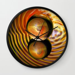 Golden in the crystal ball Wall Clock