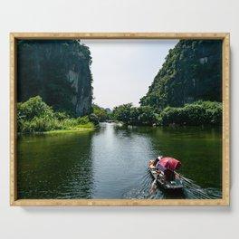 Ngo Dong River, Tam Coc, Ninh Binh, Vietnam Serving Tray